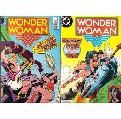 C762 Lot Of 4 Wonder Woman DC First 1980s Comic Books