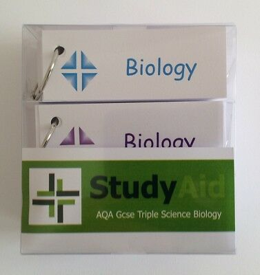 GCSE AQA Triple Science Biology (9-1) Revision Flash Cards
