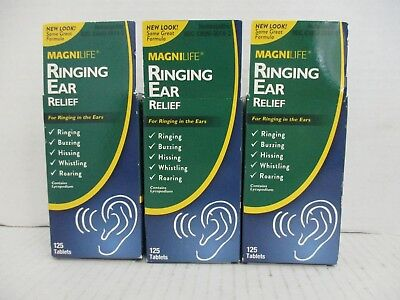 3 Magnilife Ringing Ear Relief Ringing/buzzing/hissing/roaring 125 Each De 6310