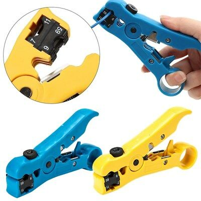 Rotary Coaxial Cable Wire Cutter Stripper RG59 RG6 RG7 RG11 Stripper Networktool