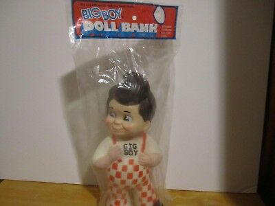 Vintage New in Bag Big Boy Restaurant  Rubber Vinyl Doll Coin Bank 1973