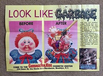 1986 Garbage Pail Kids Poster~BEFORE AND AFTER #14 ~Vintage~Topps~Pack Fresh