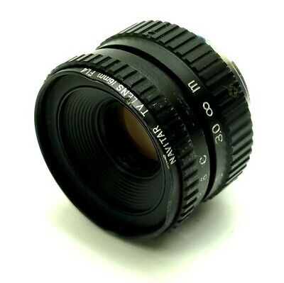 "Navitar Machine Vision Camera Lens 1/2""CCD 16mm Focal Length F1.4 C-Mount Debris"