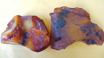 Genuine Baltic Natural cloudy  color  Amber  Stones 201 gram 琥珀色