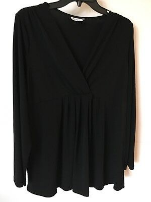 Motherhood Maternity Black Flowing Top Size XL