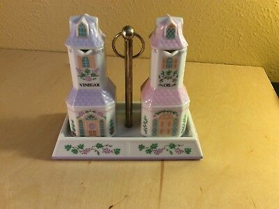 Lenox Village - Oil & Vinegar Set from 1993 - Fine Porcelain China