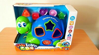 Pull Along Shape Sorting Tortoise - Keenway Toys - Box Damaged - Unopened VGC