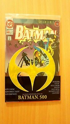 """Batman #500 D.C Knightfall 19 Sealed 1993 - Includes 14""""x29"""" poster 64 Pages"""