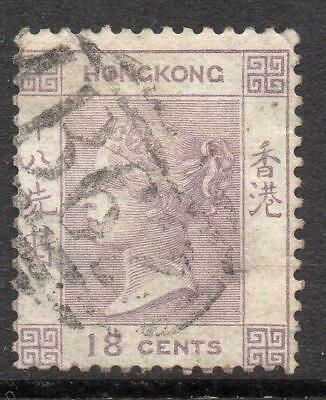 Hong Kong 1862-3 SG 4  18c. Excellent Looking V. F. Used No Hidden Faults BUT  ?