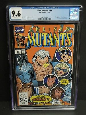 MARVEL COMICS NEW MUTANTS #87 1990 CGC 9.6 WHITE PAGES 1st CABLE APPEARANCE