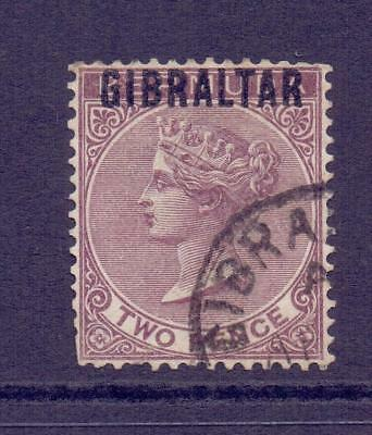 1886 Gibraltar QV SG3 2d Purple Brown Fine Used Cat £85