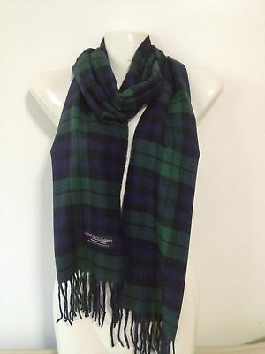 Wholesale 12Pcs 100% Cashmere Scarf Made In Scotland Green Navy Super Soft