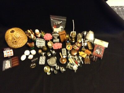 Huge Lot of Doll House Miniature Items