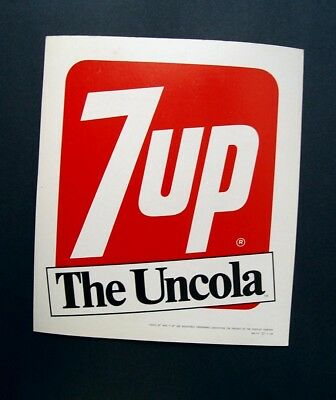 NIFTY VINTAGE MINT EASEL BACK 1968 7up THE UN COLA CARDBOARD ADVERTISING SIGN