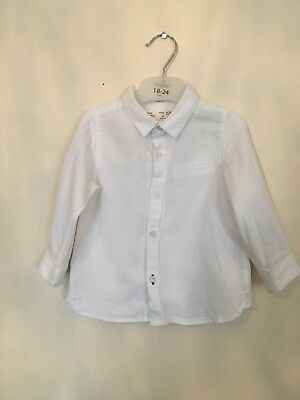 Baby Boy White Zara Shirt 9-12 Months