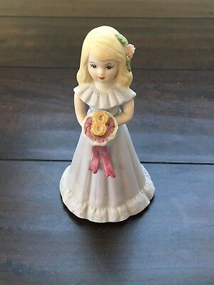 Vintage 1991 Growing Up Girls Enesco Blonde porcelain doll age 8