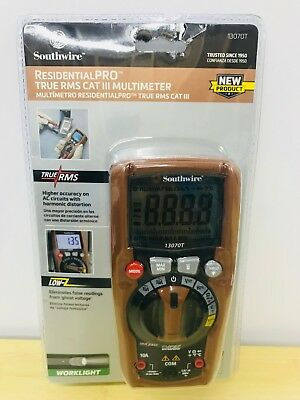 Southwire 13070T ResidentialPRO True RMS Cat III Multimeter *NEW SHIPS FREE!