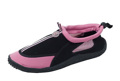 318b75ee8b9b Star Bay Womens Pink   Black Athletic Water Shoes Aqua Socks size 9