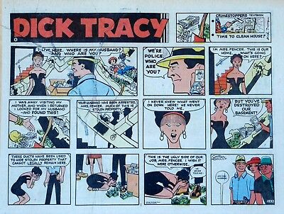 Dick Tracy by Chester Gould - large half-page color Sunday comic - Aug. 4, 1974