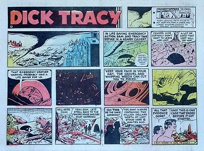Dick Tracy by Chester Gould - large half-page color Sunday comic - Aug. 11, 1974