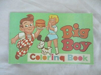Big Boy Coloring Book, Vf, 8.0, 1960's, 16 Pages Uncolored, Restaurant, 8.5X5""