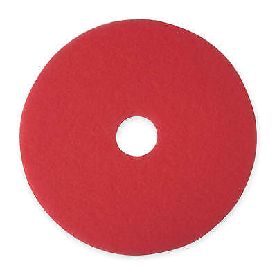 """20"""" Red Buffing and Cleaning Pad, Non-Woven Polyester Fiber, Package Quantity 5"""
