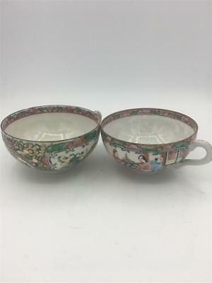 Matched Pair of Late 19th Century Chinese Teacups. Fine Porcelain. No reserve.