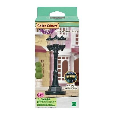Calico Critters Town Series 2 Mode Light up Street Lamp NEW NIB CC3017