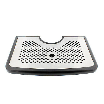 Bar Drip Tray – Stainless Steel and Plastic Tray w/ Non Slip Rubber Grip