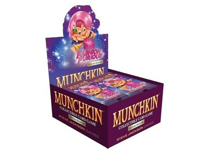 Fashion Furious Booster Box 24 Pack Munchkin Collectible Card Game SJG4506-D CCG