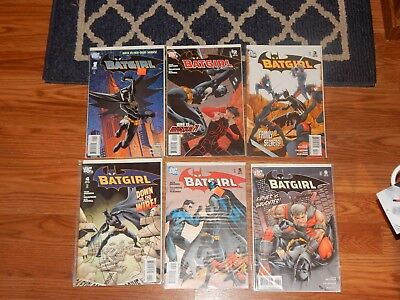 Batgirl (2nd Series 2008) #1,2,3,4,5, AND 6 VF/NM complete