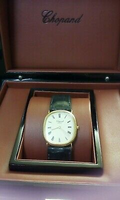 Vintage Solid 18 Carat Gold Unisex Watch Serviced Oiled New Battery Orig. Box