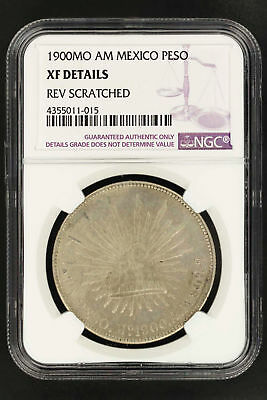1900MO AM Mexico Silver Peso NGC XF Details Reverse Scratched -150264