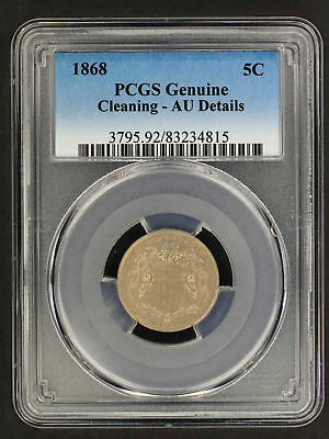 1868 Shield Nickel PCGS AU Details Cleaning -157784