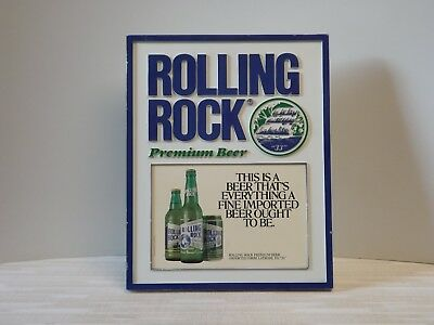 Vintage Rolling Rock 33 Premium Beer Sign Wall Mount Or Easel Stand Latrobe Pa