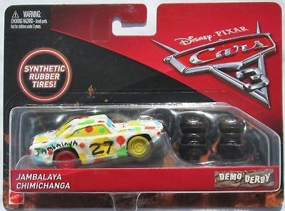 Voiture Disney Pixar Cars 3 Demo Derby Jambalaya Rubber Tires