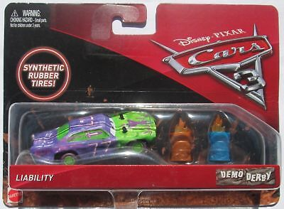 Voiture Disney Pixar Cars 3 Demo Derby Liability Rubber Tires