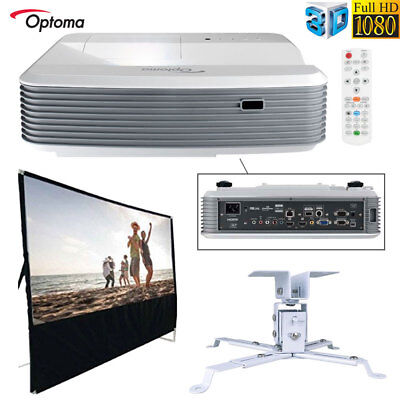 OPTOMA GT5500 SHORT Throw Gaming Home Projector w/All In One Home Theater  Bundle