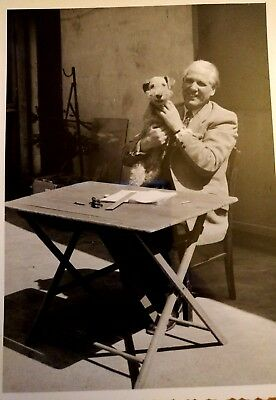 Jack Russell Fox Terrier Old Photo Original from Germany 1950s Dog Snapshot Nice