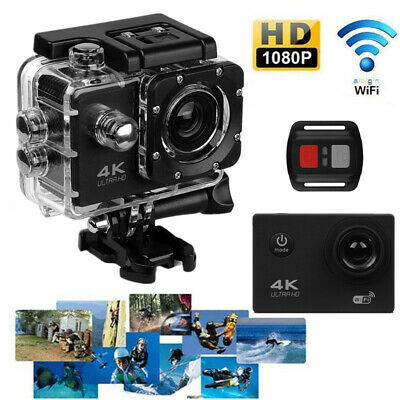 4K Ultra HD Action Camera Wifi Outdoor Sports DV Camcorder Remote DVR Go Pro HK