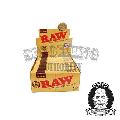 RAW Rolling Papers - 10 PACKS 110mm King Size Slim Classic Natural Unrefined