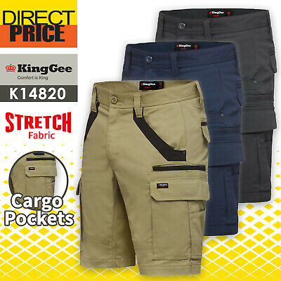 King Gee Work Shorts Tradies Utility Cargo Straight Fit Stretch K69870 NEW