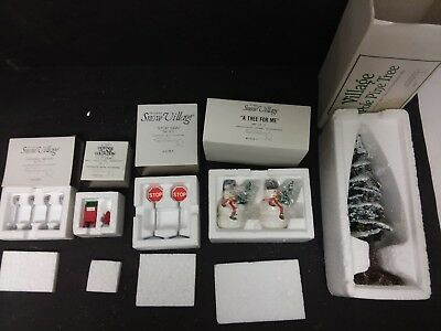 Dept 56 Snow Village Accessories Lot Of 5