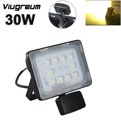 30W Microwave PIR Motion Sensor LED Security Flood Light Warm White Lamp AC110V