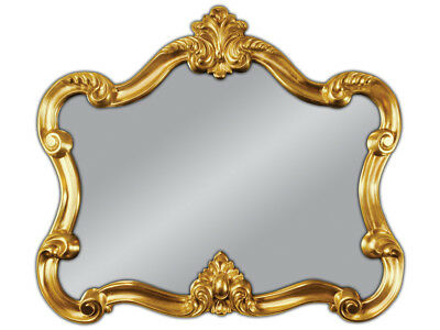 Wall Mirror Baroque Gold Oval Vintage Look Antique Rococo 70x80 Woe