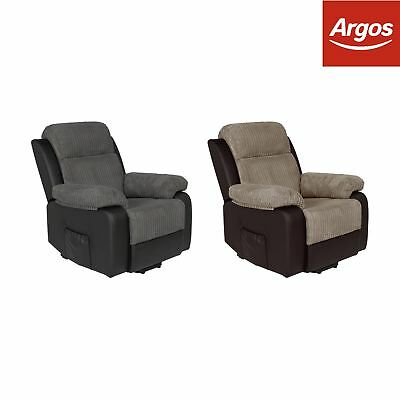 Argos Home Bradley Rise and Recline Fabric Chair - Choice of Charcoal or Natural
