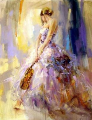 ZOPT160 abstract music Figure girl hand painted art OIL PAINTING ON CANVAS