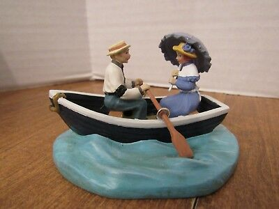 Dept 56 Seasons Bay 1999 Gently Down The Stream Couple In A Row Boat