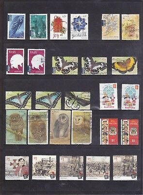 2016 Australian-85 used stamps including International Post & Sheet