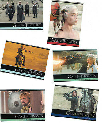 Game of Thrones Season 2+3+4+5+6+7 Trading Card Sets  (6 Basissets) + 6 Promos